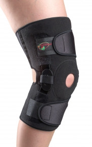 Бандаж с полицентрическими анатомическими шарнирами для сильной фиксации коленного сустава с регулируемым углом сгибания-разгибания арт. К-1ПШ-2 L/XL