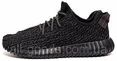 Кроссовки в стиле ADIDAS YEEZY кеды текстильные черные (реплика) 39