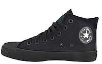 Кеды Converse All Stars Black Monochrome High M3310 (черные) 37
