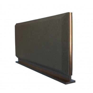 Настольная акустическая ширма для офисных столов Ecosound Trapeze Screen 1200х600 черный графит