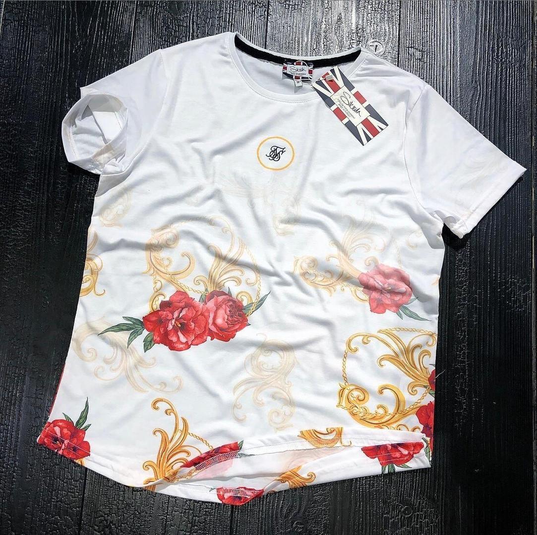 Чоловіча футболка,Червоні троянди, White