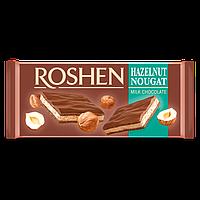 Шоколад молочний Roshen з горіховою нугою 90г