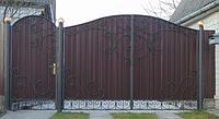 Ворота из профнастила В-22