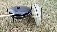 Сковорода из диска бороны 50 см с крышкой и чехлом