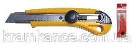 Нож канцелярский лезвие 18мм Norma 4513 металлическая направляющая