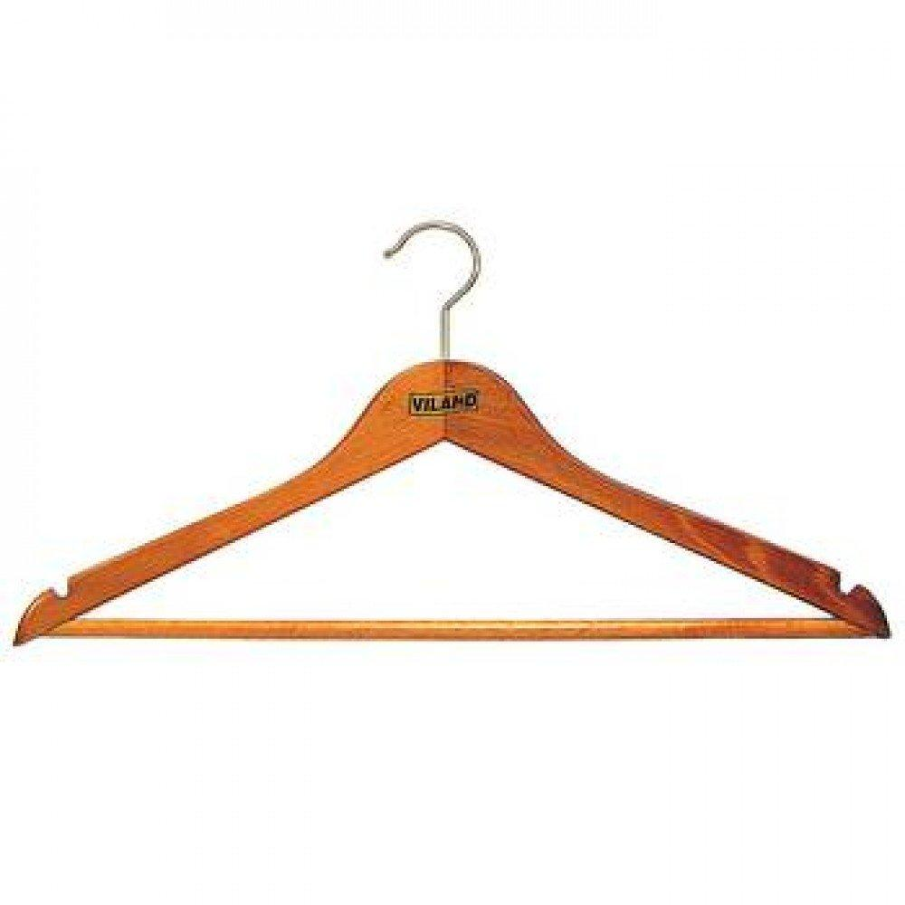 Плечики для одежды Viland с перекладиной 44 х 1.3 см из бука