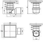 С1 Трап сливной MAGdrain FC01Q5-G хром 100х100 мм Н-85, фото 8