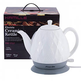 Чайник электрический керамический 1.5 л Kamille-1727