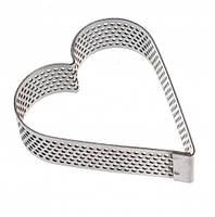 Перфорированная форма-кольцо для выпечки Сердце, антипригарное кольцо из нержавеющей стали, для тарта