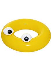 """Надувной круг """"Большие глаза"""" Bestway D=91см Желтый"""