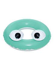 """Надувной круг """"Большие глаза"""" Bestway D=61см Бирюзовый, Черный, Белый"""