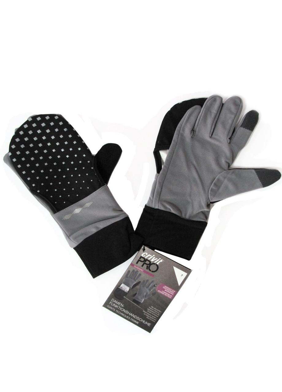 Перчатки для бега Crivit 7 Серый