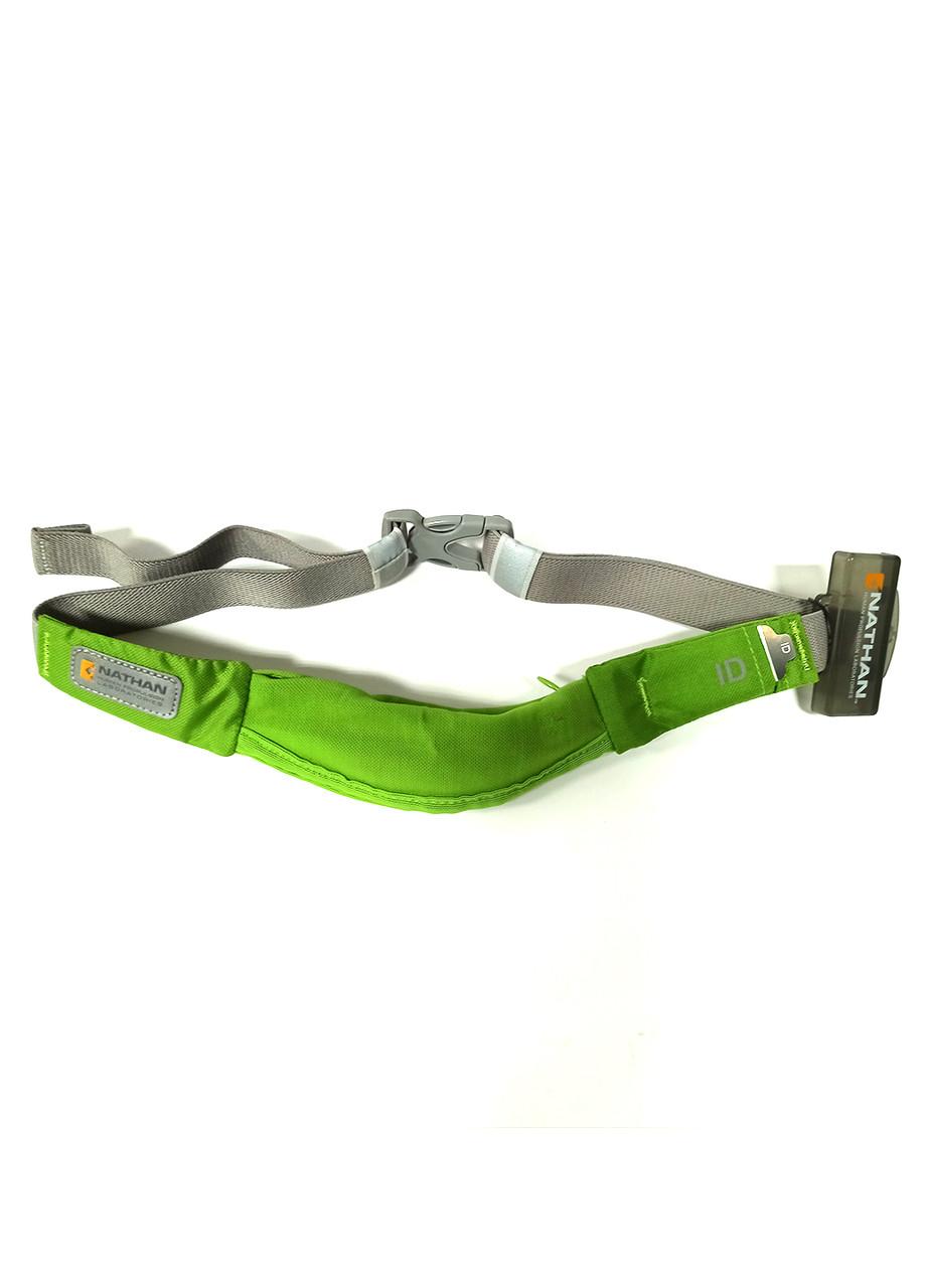 Спортивная сумка на пояс  Nathan 15х7см Зеленый