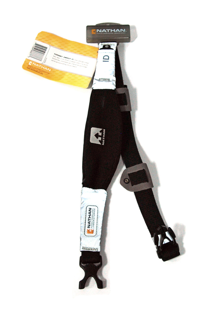 Спортивная сумка на пояс  Nathan 16х6см Черный