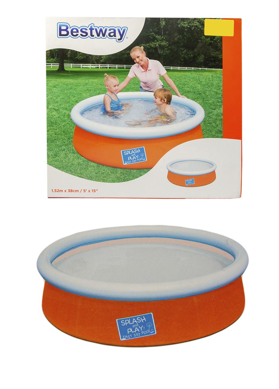 Детский надувной бассейн Bestway 38х152см Оранжевый, Белый, Голубой