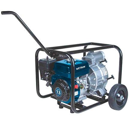 Мотопомпа 7.5л.с. Hmax 26м Qmax 60м³/ч (4-х тактный) для грязной воды WETRON (772557), фото 2