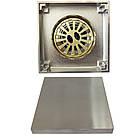 С7 Трап сливной MAGdrain WC02Q5-N матовый никель 100х100 мм Н-100, фото 3