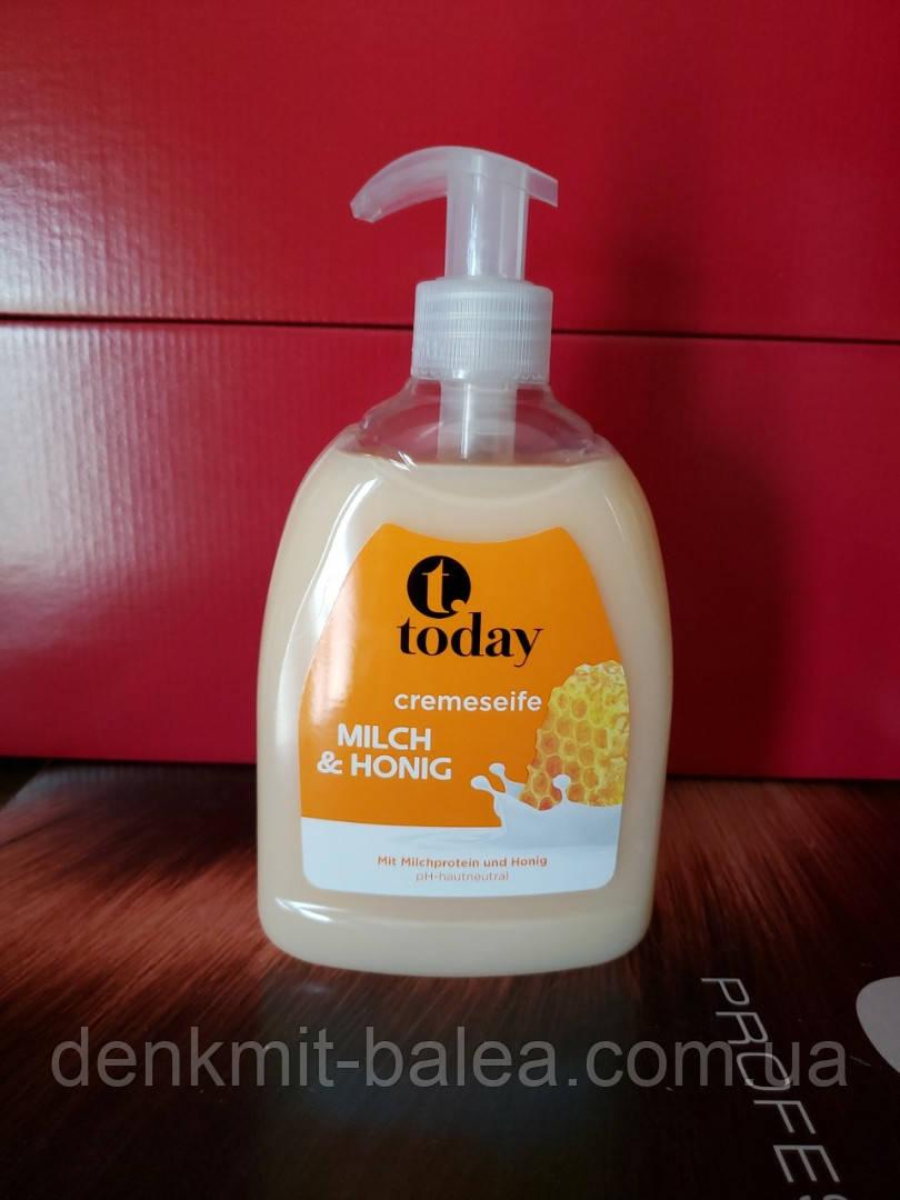 Жидкое крем-мыло Молоко и мёд Today Creme Seife 500 мл.