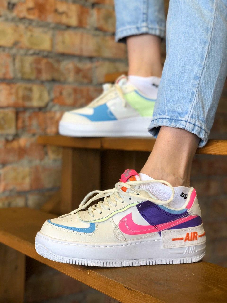 Жіночі кросівки Nike Air Force Shadow Pale Ivory, Репліка