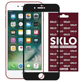 """Защитное стекло SKLO 3D (full glue) для Apple iPhone 7 / 8 / SE (2020) (4.7""""). Черный"""