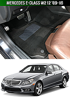 3D Коврики Mercedes E-Class W212 '09-16. Текстильные автоковрики Мерседес
