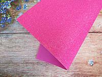 Фоамиран глиттерный 1,6 мм, 20x30 см, Китай, МАЛИНОВЫЙ с переливом, фото 1
