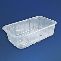 Пластиковий лоток для упаковки ягід 500 грам