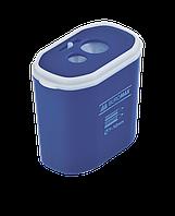 Точилка прямоугольная Buromax DRUM, 2 отв., контейнер, пластик. корпус, ассорти