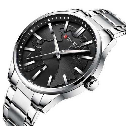 Curren 8366 Silver-Black