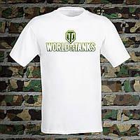 """Мужская футболка для военного с принтом Эмблема WT """"World of Tanks"""" Push IT S, Белый"""