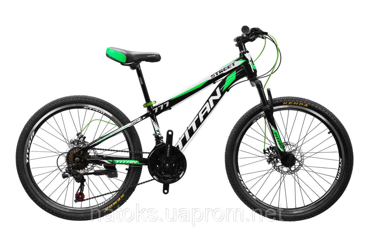 "Велосипед Titan Street 24"" Black-Green-White"