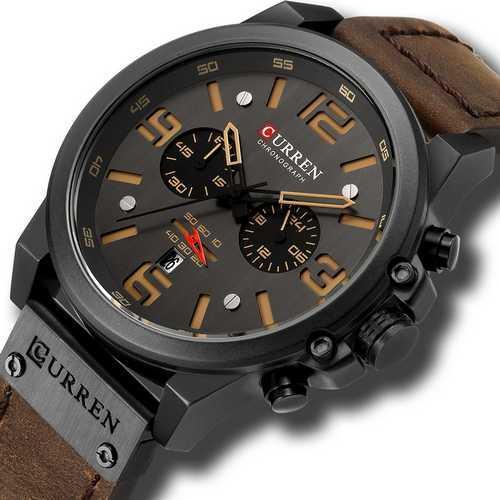 Curren 8314 Black-Brown