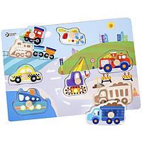 Іграшка дерев'яна вкладиш Транспорт №3611 Classic World