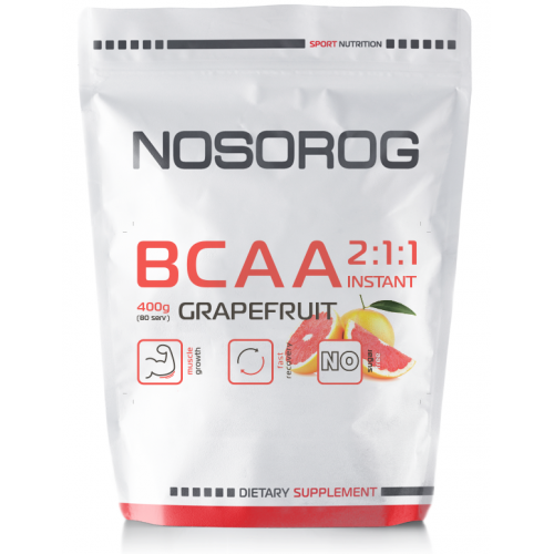 Аминокислота Бцаа Носорог / Nosorog Nutrition BCAA  2:1:1 Instant 400 г грейпфрут