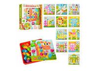 Мозаїка для малюків,великі вкладиші,12 картинок,в кор-ці,31,5х5,5х31см №808-7(24)(48) КІ