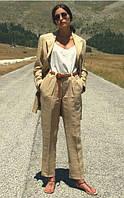 Річний легкий жіночий костюм з льону, піджак і штани або шорти на вибір . Колір та розмір в асортименті 40-72+, фото 1