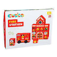 "Констр-р дерев. ""Fire station"" Cubika №LDK3/15139"