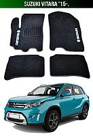 Коврики Suzuki Vitara '15-. Текстильные автоковрики Сузуки Витара