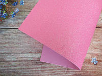 Фоамиран глиттерный 1,6 мм, 20x30 см, Китай, РОЗОВЫЙ с переливом, фото 1