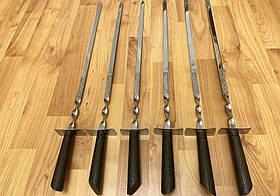 """Набор шампуров Mavens """"Шпага"""" с деревянной темной ручкой, 6 шт (02-0038)"""