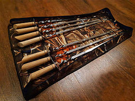 """Набор шампуров Mavens """"Шпага"""" с светлой ручкой в чехле (7 шампуров + чехол), (02-0047)"""
