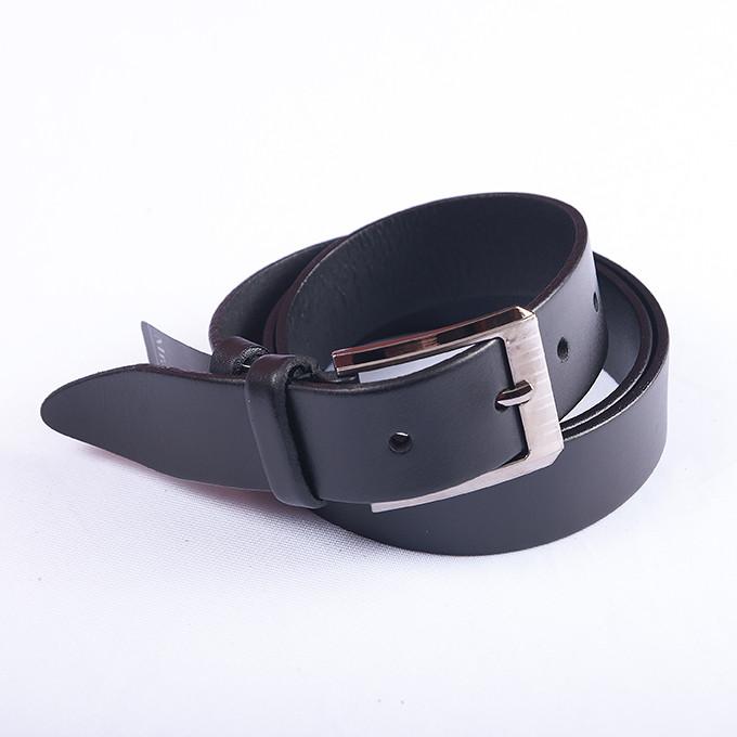 Классический ремень для брюк черный, 128 см