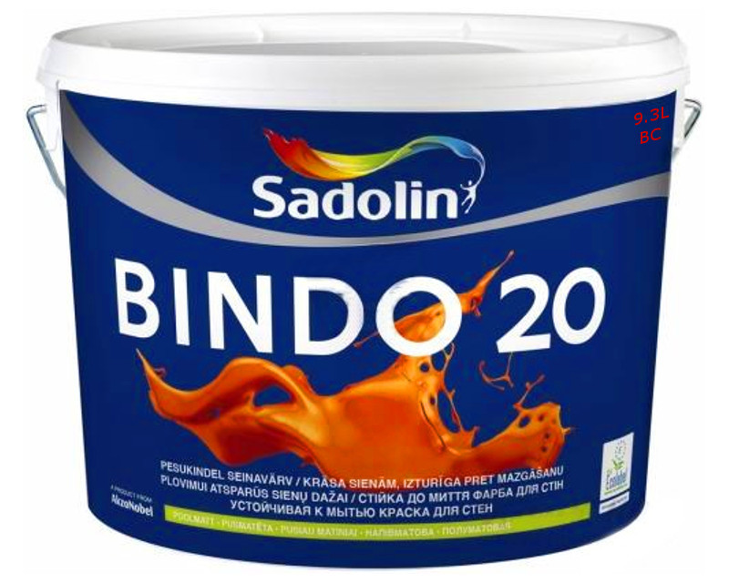 Фарба латексна інтер'єрна SADOLIN BINDO 20 ВС-транспарентна 9,3 л