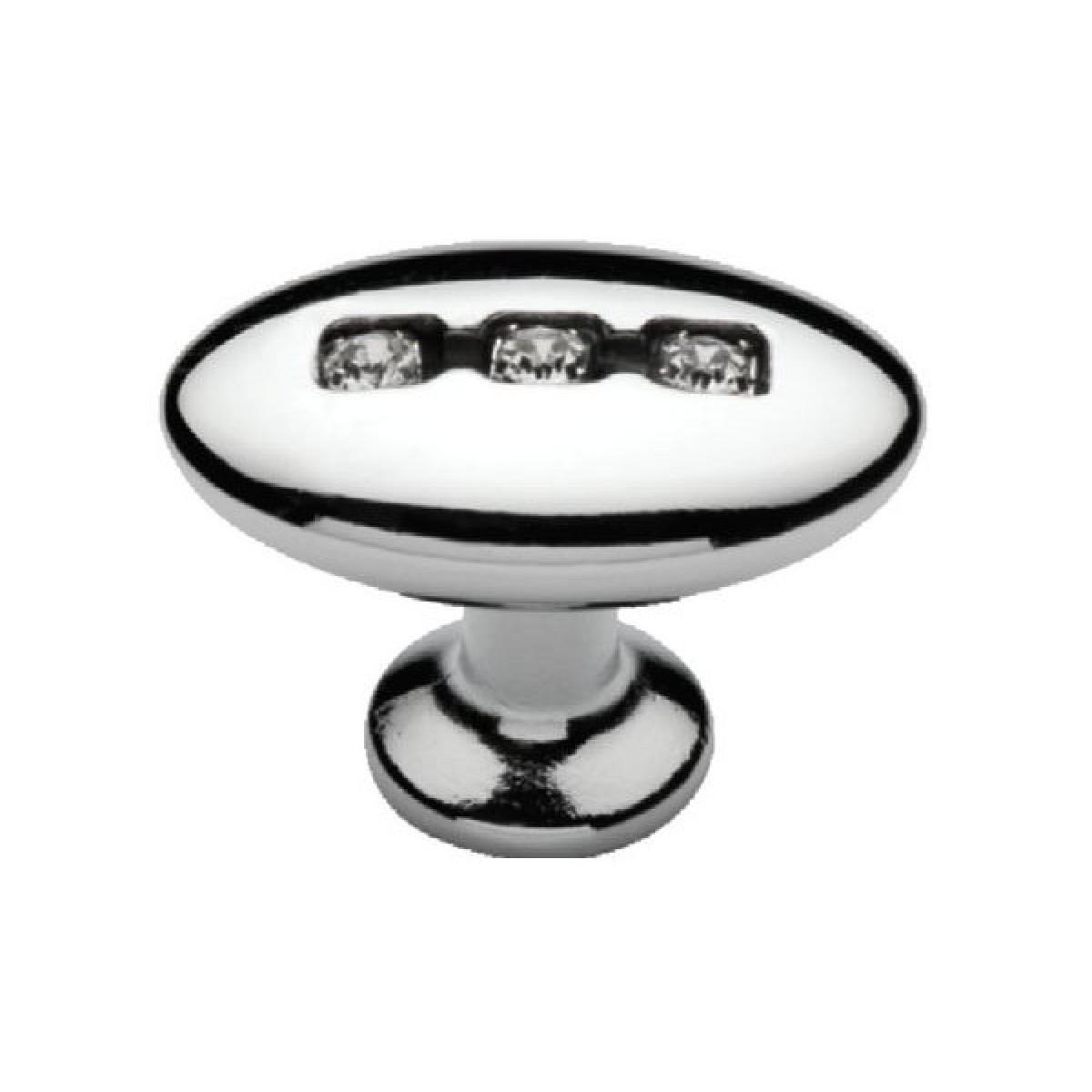 Ручка мебельная Ozkardesler SOMUN DUGME 6059-06 Хром с камнями