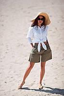 Красивые женские шорты хаки