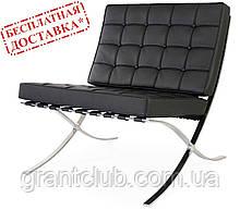 Кресло Барселона черный кожзам СДМ группа (бесплатная доставка)