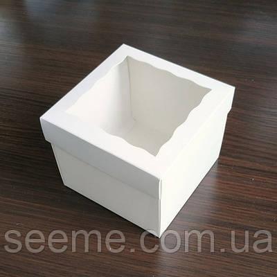 Коробка подарочная с окошком 120х120х90 мм