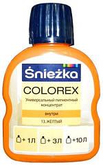 Барвник Sniezka Colorex №13 жовтий 100мл