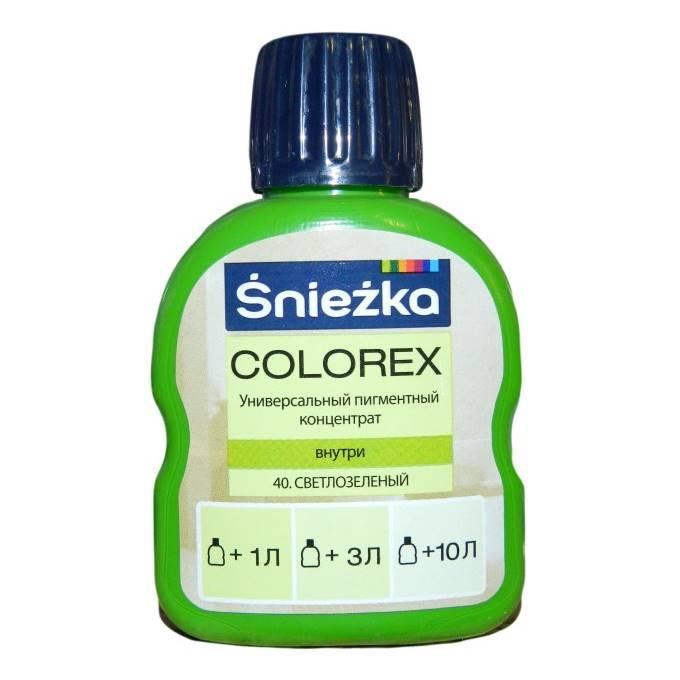 Барвник Sniezka Colorex №40 світло-зелений 100мл