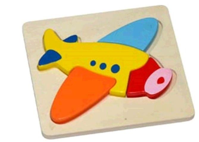 Пазл дерев'яний Літак №HJ98410(48) Hongji